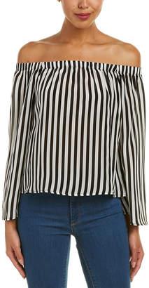 Glam Striped Silk Top