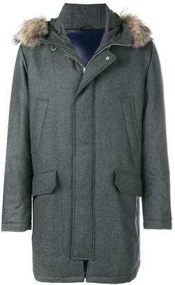 Eleventy fur hooded jacket