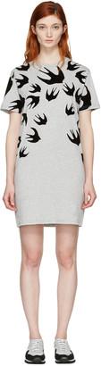 McQ Alexander McQueen Grey Swallows T-Shirt Dress $275 thestylecure.com