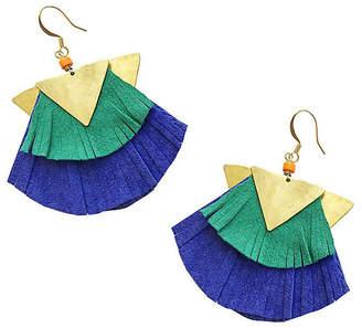 Gaia Jet Drop Earrings - Blue