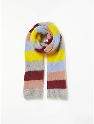 Becksöndergaard Gloria Mirage Stripe Scarf, Light Grey Melange