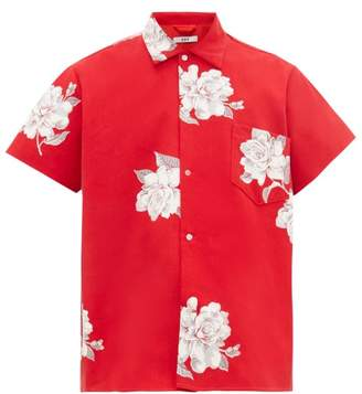 Bode - Carnation Print Cotton Canvas Shirt - Mens - Red