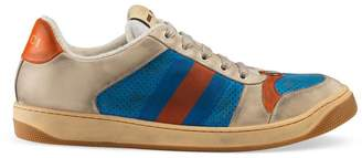Gucci Distressed leather sneaker
