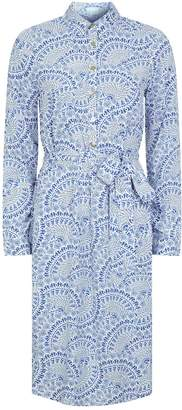 Melissa Odabash Tie-Waist Shirt Dress