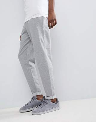 Asos DESIGN Standard Joggers With Turn Up Hem In Gray Marl
