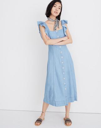 Madewell Denim Princess-Seamed Maxi Dress
