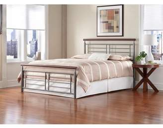 Leggett & Platt Fashion Bed Group Fontane King Bed, Silver/Cherry -Component