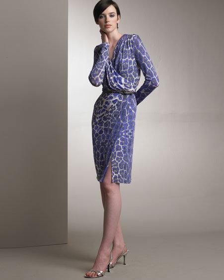 Blumarine Printed Wrap Dress