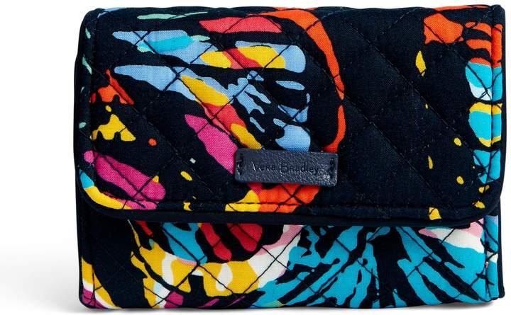 Vera Bradley Iconic RFID Riley Compact Wallet - SUPERBLOOM - STYLE