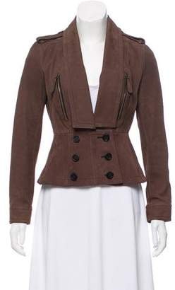 Burberry Long Sleeve Suede Jacket