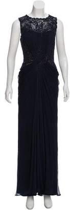 Tadashi Shoji Embellished Draped Dress