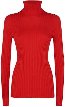 Victoria Beckham Ribbed Turtleneck Sweater