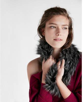 Express gray faux fur snood