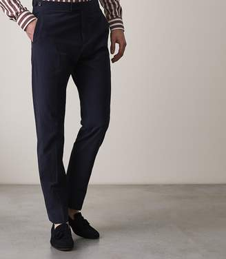 Reiss ORDER BY MIDNIGHT DEC 15TH FOR CHRISTMAS DELIVERY BORGO T SLIM FIT TROUSERS Navy