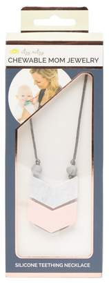 ITZY RITZY Double Chevron Marble Pendant Teething Necklace
