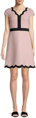 Kate Spade Scallop A-Line Dress