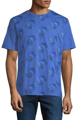 Robert Graham Men's Embroidered Wave Cotton T-Shirt