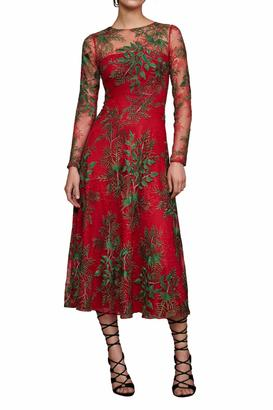 Tadashi Shoji Red Cocktail Dress $508 thestylecure.com