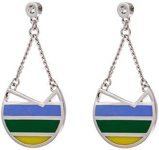 Colette Malouf Silver Ibiza Swing Earrings