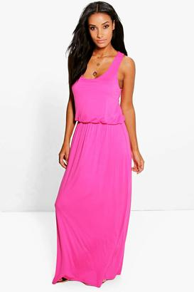 boohoo Alice Racer Back Maxi Dress $24 thestylecure.com