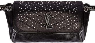 Saint Laurent Monogramme Stardust Monogramme Niki Body Bag in Black | FWRD