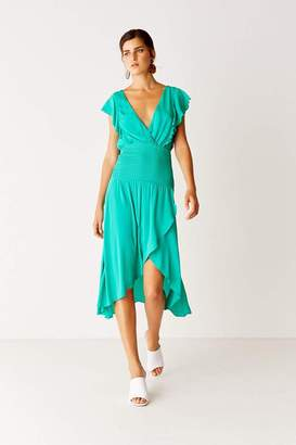 Suboo Shirred Maxi Dress - Emerald Green