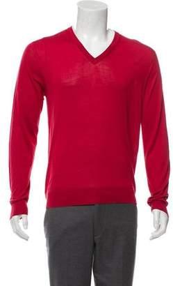 Hermes Silk V-Neck Sweater