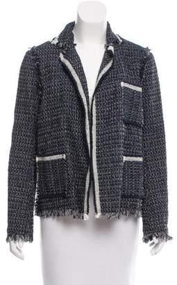 Lanvin Tweed Open-Front Jacket