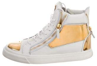Giuseppe Zanotti Round-Toe High-Top Sneakers