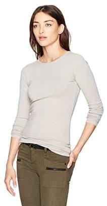 LAmade Women's Form Fitting Basic Long Sleeve Crew Neck
