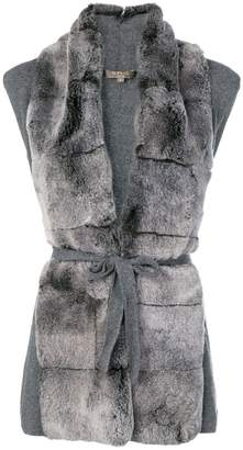 N.Peal fur placket Milano gilet