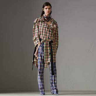 Burberry Check Lightweight Hooded Parka
