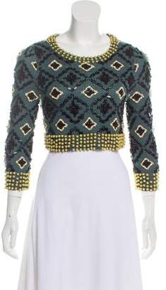 Opening Ceremony Embellished Linen Sweater