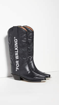 "Off-White For Walking"" Cowboy Boots"