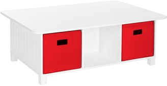 Riverridge Home RiverRidge Home Kids' 6-Cubby Storage Activity Table with 2-Piece Bins