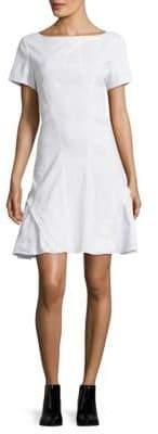 Zac Posen Bateau Neckline Woven Shift Dress