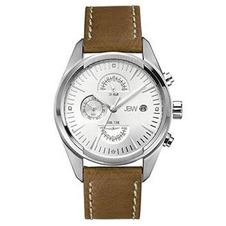 JBW Men's J6300B The Woodall Analog Display Swiss Quartz Brown Watch