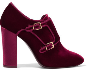 Tory Burch Carley Velvet Ankle Boots