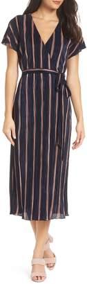 Charles Henry Wrap Midi Dress