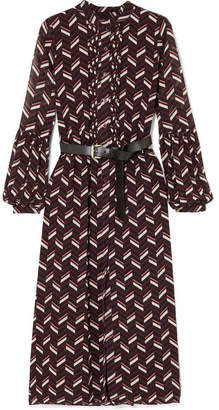 be4483f99b MICHAEL Michael Kors Pintucked Printed Crepe Midi Dress - Purple