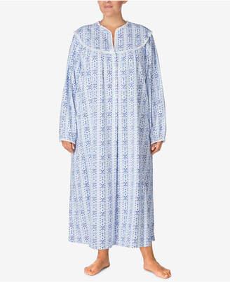 Lanz of Salzburg Plus Size Cotton Printed Nightgown