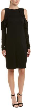 Three Dots Cold-Shoulder Shift Dress