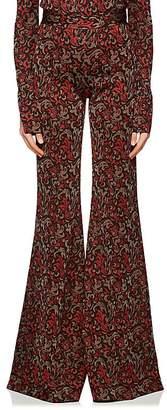 Chloé Women's Baroque Metallic Knit Flared Pants