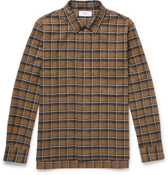 Mr P. Checked Brushed-Cotton Shirt