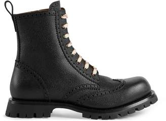 Gucci Leather brogue lace-up boot