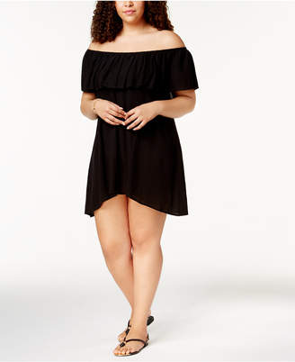 Becca ETC Plus Size Modern Muse Off-The-Shoulder Cover-Up