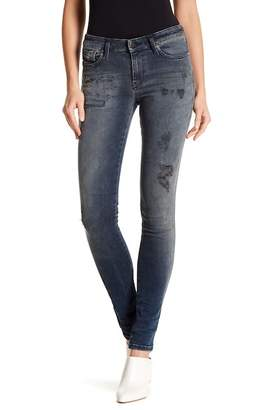 Diesel Skinzee Distressed Super Slim Skinny Jeans