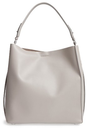 Allsaints 'Paradise North/south' Calfskin Leather Tote - Grey $378 thestylecure.com