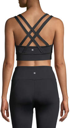 Lanston Kolton Scoop-Neck Strappy-Back Sports Bra