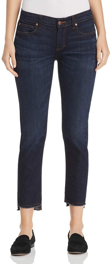 Eileen Fisher Petites Slim Ankle Step-Hem Jeans in Utility Blue - 100% Exclusive